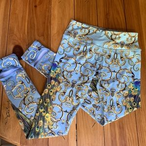 Pants - Awesome peacock yoga pants/tights Size S